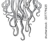 Hand Drawn Vector Tentacles In...