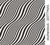 abstract wavy striped seamless... | Shutterstock . vector #207779641