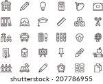 school icons   Shutterstock .eps vector #207786955