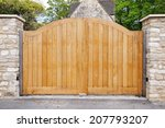 Large Wooden Gateway Background