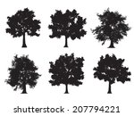tree silhouettes | Shutterstock .eps vector #207794221