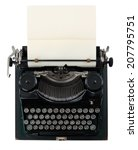 Vintage Typewriter Isolated On...