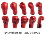Boxing Glove Isolated On White...