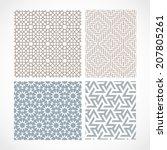 islamic pattern   Shutterstock .eps vector #207805261