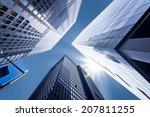 looking up at business... | Shutterstock . vector #207811255