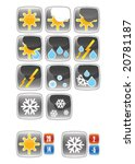 weather forecast icons | Shutterstock .eps vector #20781187