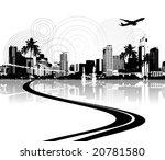 cityscape background  urban art | Shutterstock .eps vector #20781580