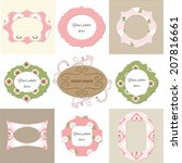 cute textile frame set with... | Shutterstock .eps vector #207816661