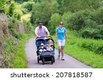 Young Active Parents Hiking In...