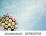 tips of coloring pencils over a ... | Shutterstock . vector #207820705