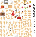 hand sign collection | Shutterstock .eps vector #207834235