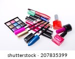 set of makeup products isolated ... | Shutterstock . vector #207835399