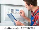 technician servicing the gas... | Shutterstock . vector #207837985