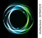 glowing circle background... | Shutterstock .eps vector #207849229