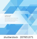 abstract geometric vector... | Shutterstock .eps vector #207851371