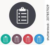 checklist icon | Shutterstock .eps vector #207857029