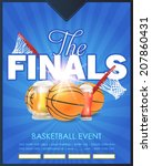 basketball event finals concept ... | Shutterstock .eps vector #207860431