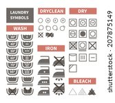 flat set of laundry icons....   Shutterstock .eps vector #207875149