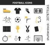 set of modern flat soccer icons.... | Shutterstock .eps vector #207875161