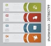 infographic. design number... | Shutterstock .eps vector #207882799