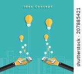 modern business working mobile...   Shutterstock .eps vector #207885421