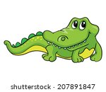kind crocodile  vector... | Shutterstock .eps vector #207891847