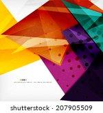 modern 3d glossy overlapping...   Shutterstock . vector #207905509