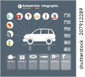 car auto service infographics... | Shutterstock .eps vector #207912289