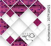 Abstract 3D Geometrical Design.  Vector Illustration. Eps 10. - stock vector
