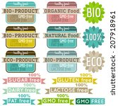 set of natural organic product... | Shutterstock .eps vector #207918961