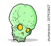 cartoon spooky skull | Shutterstock .eps vector #207923827