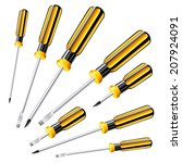 hand tools series. set of eight ...