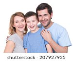 portrait of the happy parents... | Shutterstock . vector #207927925