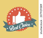 best choice banner tag | Shutterstock .eps vector #207929389