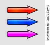 set of modern colorful arrows....