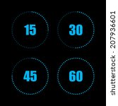 digital countdown timer with... | Shutterstock .eps vector #207936601