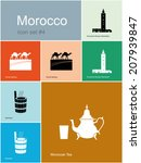 landmarks of morocco. set of... | Shutterstock .eps vector #207939847