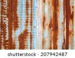 red rusty metal | Shutterstock . vector #207942487