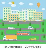 city life. town landscape... | Shutterstock .eps vector #207947869