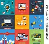 icons for web design  seo ... | Shutterstock .eps vector #207949465