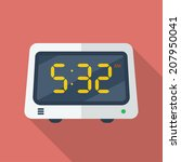 electronic alarm clock icon.... | Shutterstock .eps vector #207950041
