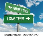 a road sign with short term... | Shutterstock . vector #207954697