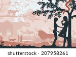 editable vector silhouettes of... | Shutterstock .eps vector #207958261