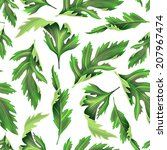 tropical leaves. seamless... | Shutterstock . vector #207967474