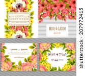 wedding invitation cards with...   Shutterstock .eps vector #207972415