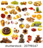 big collection of sweets... | Shutterstock . vector #20798167