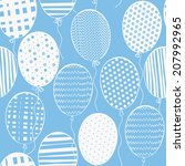 Seamless Pattern With Balloons...