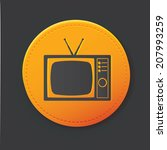 television button clean vector | Shutterstock .eps vector #207993259
