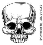 an original drawing of a human... | Shutterstock .eps vector #207994159