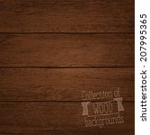 vector illustration of wood... | Shutterstock .eps vector #207995365